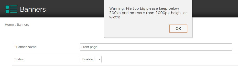 Opencart 1.5 File too big error message